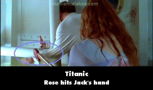 Gazapos, curiosidades, errores, fallos del cine y la TV Titanic-2