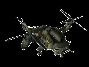 Un bonito helicóptero del futuro